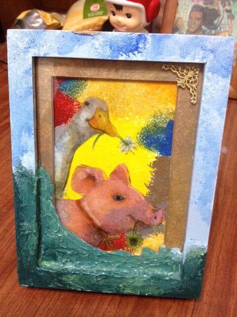 DIY豬豬畫框 相片來源:墾丁Pig House二館 包棟主題民宿