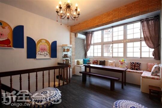 2F客廳 相片來源:墾丁Pig House二館|包棟主題民宿