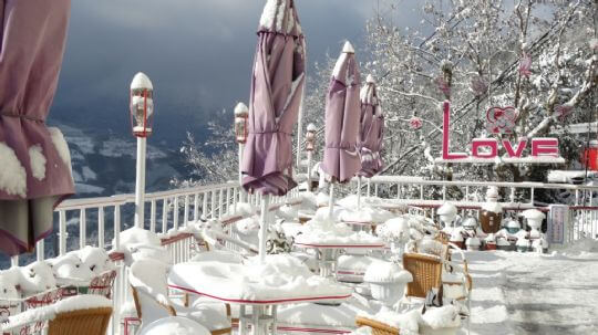 松林雪景 相片來源:拉拉山松林渡假山莊