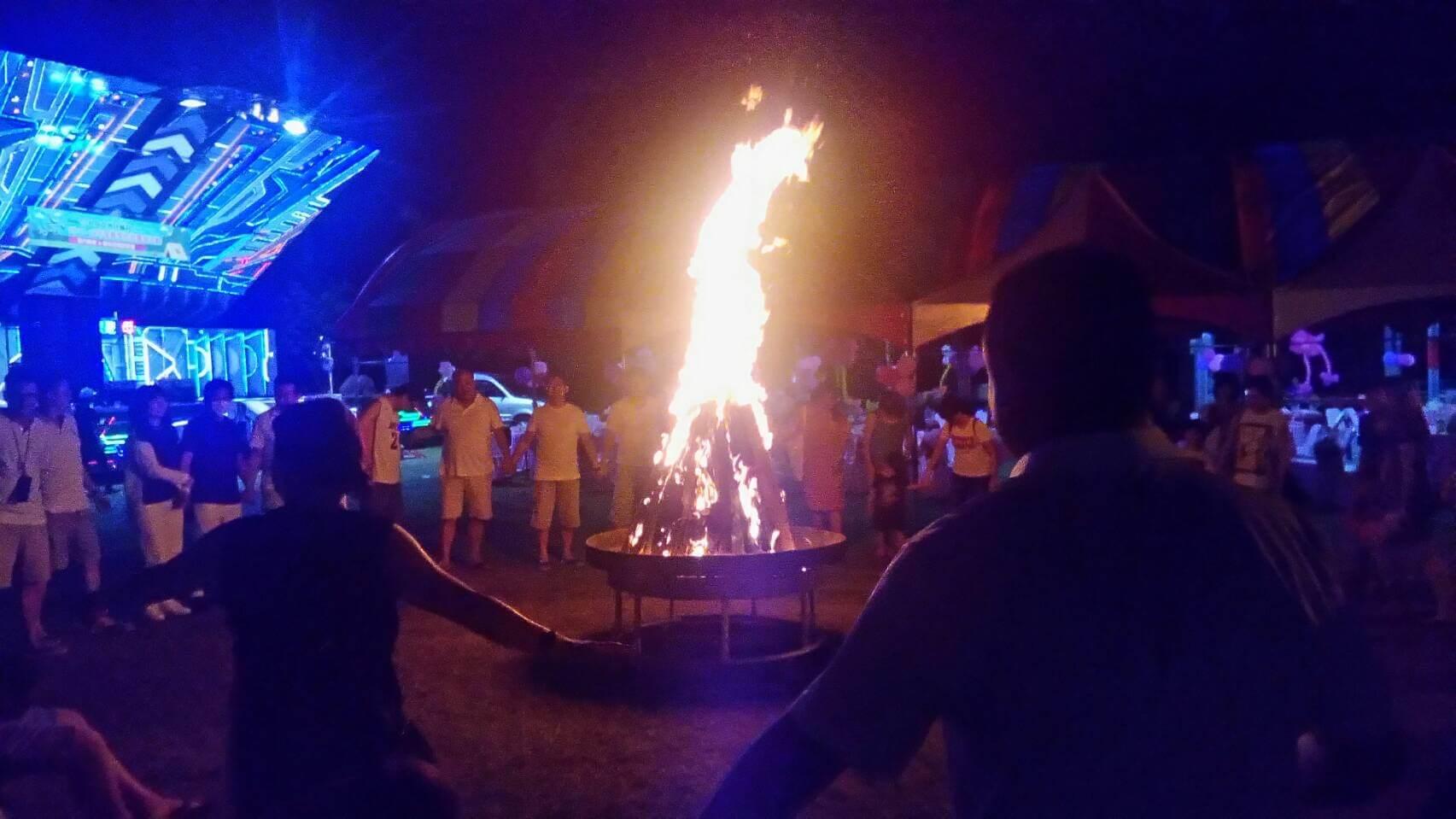 夜間營火讓露營氣氛更加分 相片來源:日月潭.梢楠園梢楠林露營民宿