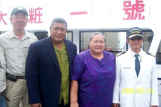 吐瓦魯總理葉米亞閣下伉儷 相片來源:日月潭水社海觀光遊艇(股)有限公司