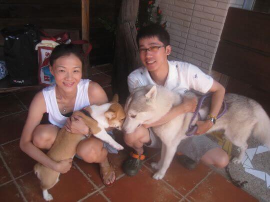 2010.8.11林先生2人+1狗住蛋屋 相片來源:墾丁寵物民宿.哈CHEESE