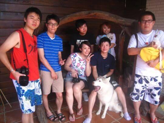 2010.08.13黃小姐7人+2狗住通鋪 相片來源:墾丁寵物民宿.哈CHEESE