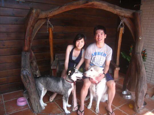 2010.9.23洪先生2人+1狗入住樹屋 相片來源:墾丁寵物民宿.哈CHEESE