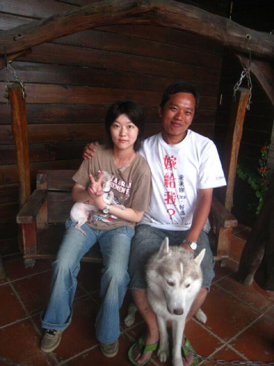 2010.9.24連小姐2人+1狗入住蛋屋 相片來源:墾丁寵物民宿.哈CHEESE