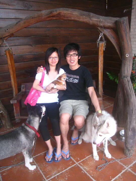 2010.9.25劉先生2人+1狗入住蛋屋 相片來源:墾丁寵物民宿.哈CHEESE