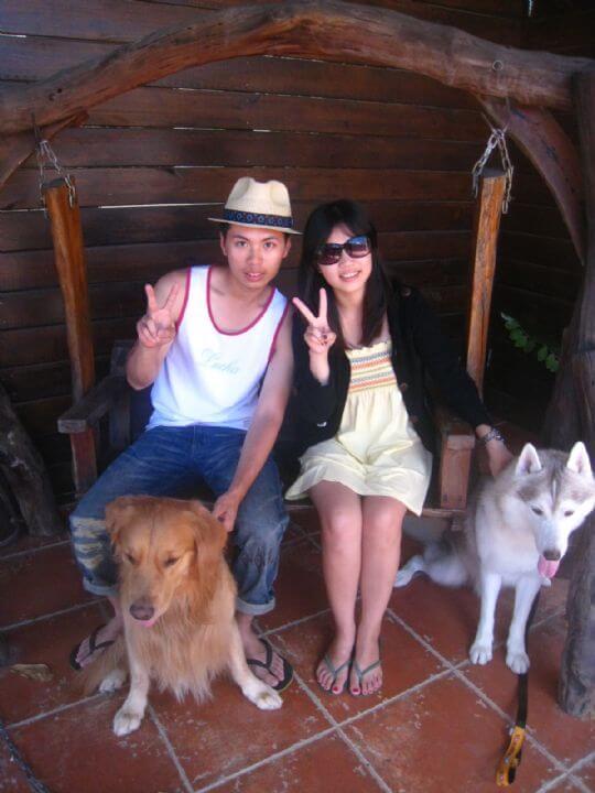 2010.9.27廖先生2人+1狗入住蛋屋 相片來源:墾丁寵物民宿.哈CHEESE