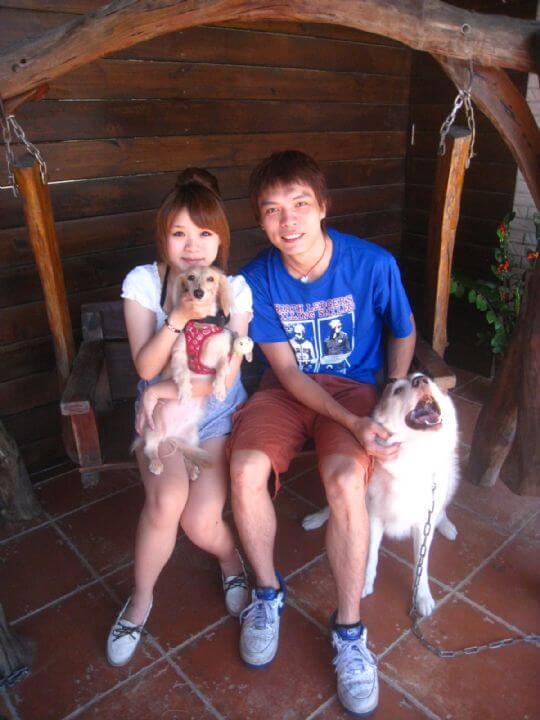 2010.9.28蘇先生2人+1狗入住蛋屋 相片來源:墾丁寵物民宿.哈CHEESE