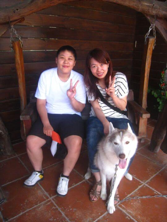 2010.9.27、28賴小姐2人+1兔入住樹屋 相片來源:墾丁寵物民宿.哈CHEESE