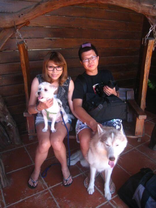 2010.9.29林先生2人+1狗入住蛋屋 相片來源:墾丁寵物民宿.哈CHEESE