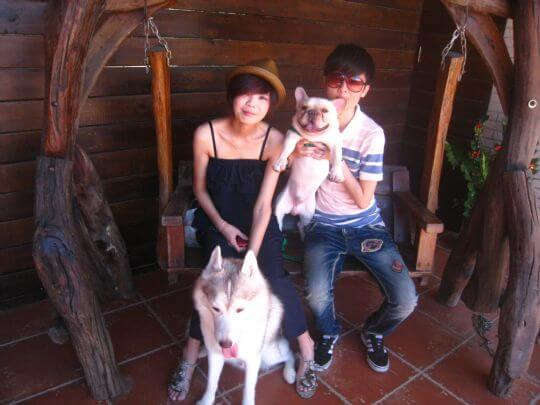 2010.9.30林小姐2人+1狗入住蛋屋 相片來源:墾丁寵物民宿.哈CHEESE