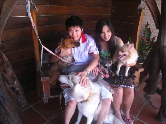 2010.9.29~30劉小姐2人+3狗入住船屋 相片來源:墾丁寵物民宿.哈CHEESE