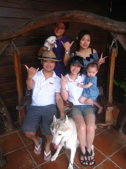 2010.10.3卓小姐5人+1狗入住船屋和樹屋 相片來源:墾丁寵物民宿.哈CHEESE
