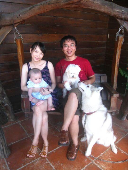 2010.10.9陳小姐3人+1狗入住蛋屋 相片來源:墾丁寵物民宿.哈CHEESE