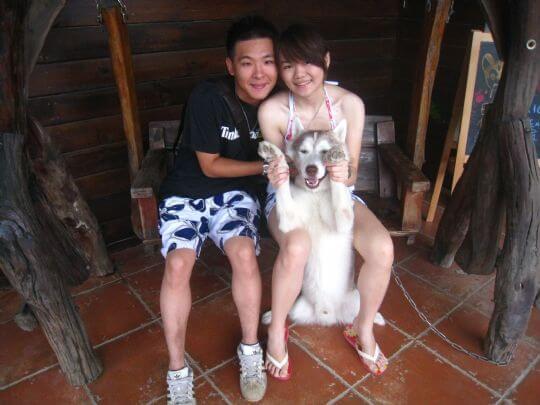 2010.10.15黃小姐2人+3狗入住船屋 相片來源:墾丁寵物民宿.哈CHEESE