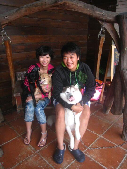 2010.10.20~21廖小姐2人+2狗入住船屋和樹屋 相片來源:墾丁寵物民宿.哈CHEESE