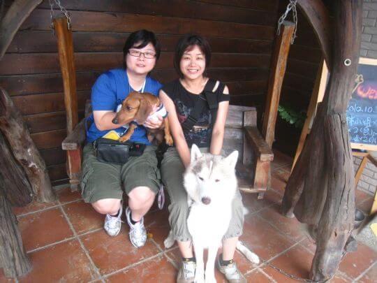 2010.10.26黃小姐2人+1狗入住樹屋 相片來源:墾丁寵物民宿.哈CHEESE