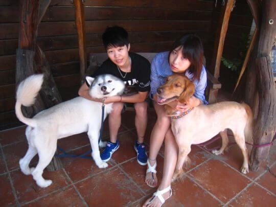 2010.10.31~11.1林小姐2人+2狗入住船屋 相片來源:墾丁寵物民宿.哈CHEESE