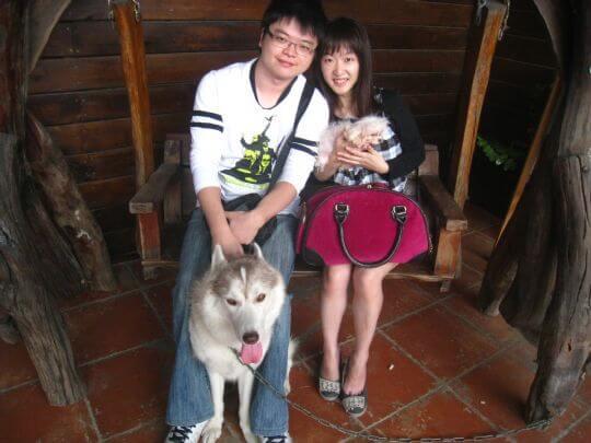 2010.11.3陳先生2人+1狗入住蛋屋 相片來源:墾丁寵物民宿.哈CHEESE