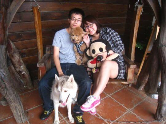 2010.11.5張小姐2人+1狗入住船屋 相片來源:墾丁寵物民宿.哈CHEESE
