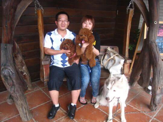 2010.11.6張小姐2人+2狗入住蛋屋 相片來源:墾丁寵物民宿.哈CHEESE