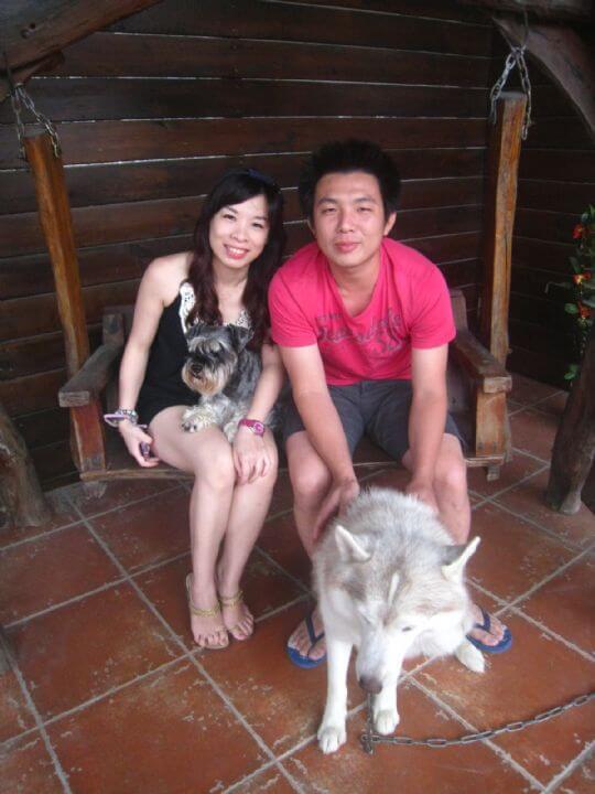 2010.11/13~14邱小姐2人+1狗入住船屋和蛋屋 相片來源:墾丁寵物民宿.哈CHEESE