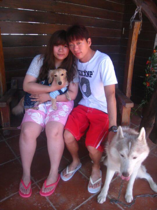 2010.11.18~19黃小姐2人+1狗入住蛋屋和船屋 相片來源:墾丁寵物民宿.哈CHEESE