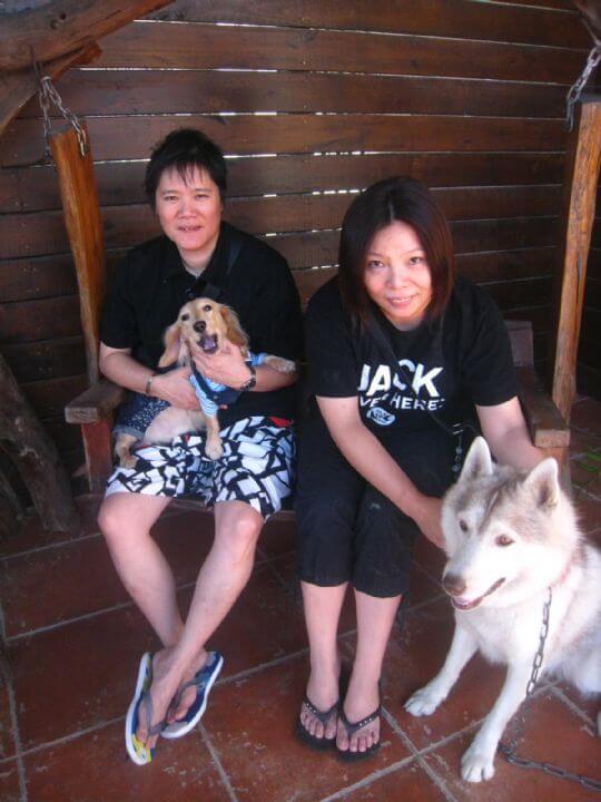 2010.11.19黃小姐的媽媽2人入住樹屋 相片來源:墾丁寵物民宿.哈CHEESE