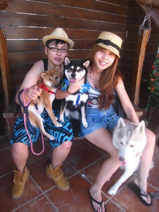2010.11.18~19王先生2人+2狗入住船屋和蛋屋 相片來源:墾丁寵物民宿.哈CHEESE