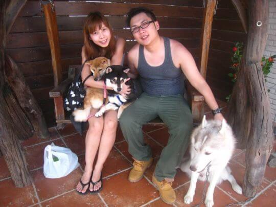 2010.11.10王先生2人+1狗入住樹屋 相片來源:墾丁寵物民宿.哈CHEESE