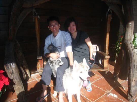 2010.12.19鄭小姐2人+1貓入住船屋 相片來源:墾丁寵物民宿.哈CHEESE