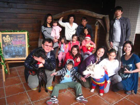 2010.12.30~2011.1.1陳小姐16人+1狗入住包棟 相片來源:墾丁寵物民宿.哈CHEESE