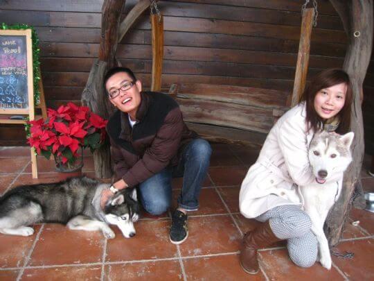 2011.1.8陳小姐2人+1狗入住船屋 相片來源:墾丁寵物民宿.哈CHEESE