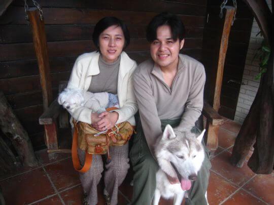 2011.1.22郭先生2人+1狗入住蛋屋 相片來源:墾丁寵物民宿.哈CHEESE