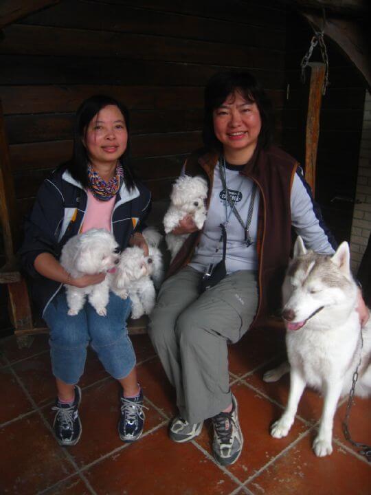 2011.1.24葉小姐2人+3狗入住樹屋 相片來源:墾丁寵物民宿.哈CHEESE