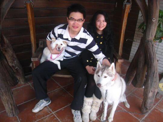 2011.2/4黃小姐3人+1狗入住船屋 相片來源:墾丁寵物民宿.哈CHEESE