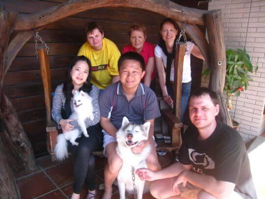 2011.2.5~2.6林先生6人+1狗入住船屋、樹屋和蛋屋 相片來源:墾丁寵物民宿.哈CHEESE