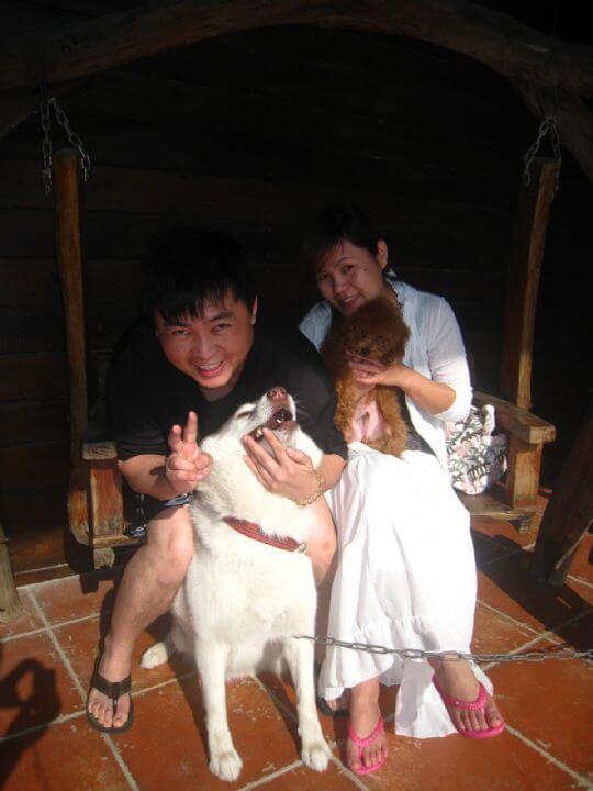 2011.2/10謝小姐2人+1狗入住船屋 相片來源:墾丁寵物民宿.哈CHEESE