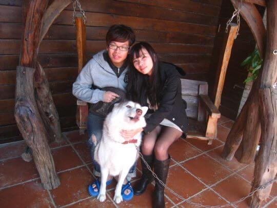 2011.2.14鄭先生2人+1狗1兔入住船屋 相片來源:墾丁寵物民宿.哈CHEESE