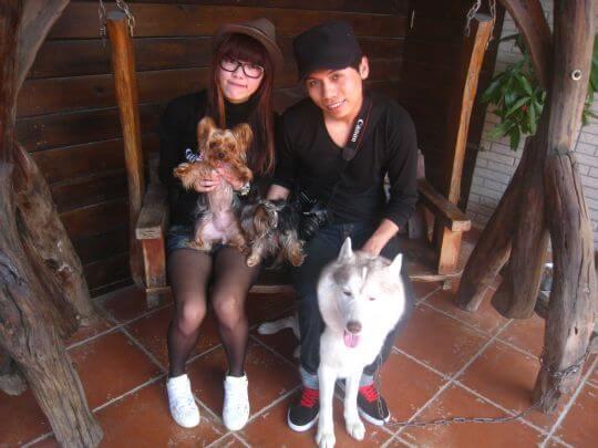 2011.2.15~16唐先生2人+2狗入住蛋屋和船屋 相片來源:墾丁寵物民宿.哈CHEESE