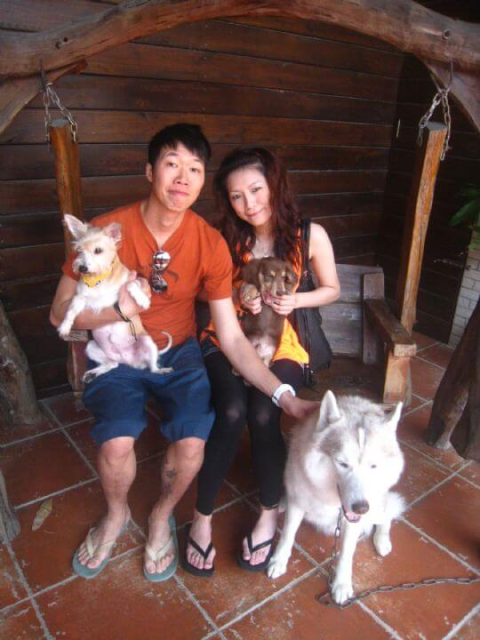 2011.3.14陳小姐2人+1狗入住蛋屋 相片來源:墾丁寵物民宿.哈CHEESE