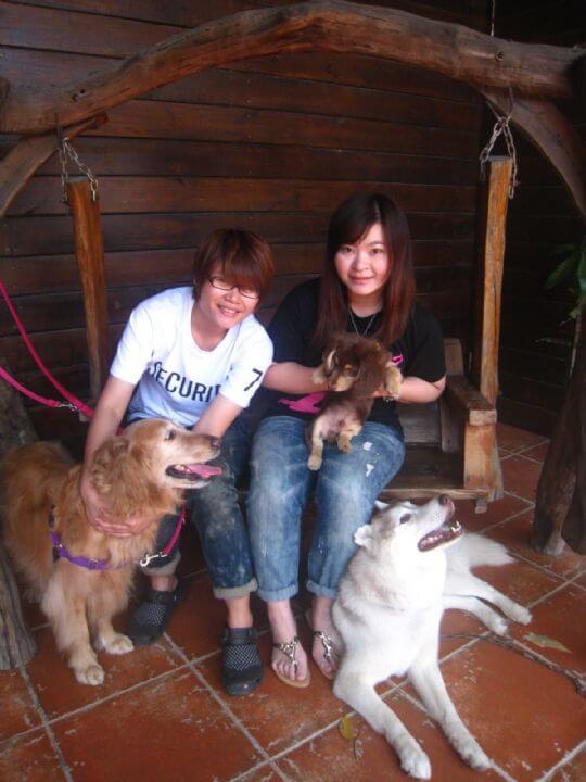 2011.3.13~14蔡小姐2人+1狗入住船屋 相片來源:墾丁寵物民宿.哈CHEESE