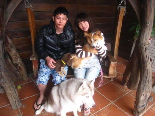 2011.3.15謝小姐2人+1狗入住船屋 相片來源:墾丁寵物民宿.哈CHEESE