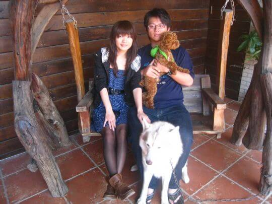 2011.3.17林先生2人+1狗入住船屋 相片來源:墾丁寵物民宿.哈CHEESE