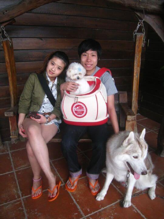 2011.4.4黃先生2人+1狗入住樹屋 相片來源:墾丁寵物民宿.哈CHEESE