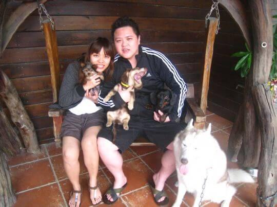 2011.4/7陳小姐2人+2狗入住船屋 相片來源:墾丁寵物民宿.哈CHEESE