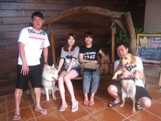 2011.4/16楊小姐4人+2狗入住船屋和蛋屋 相片來源:墾丁寵物民宿.哈CHEESE