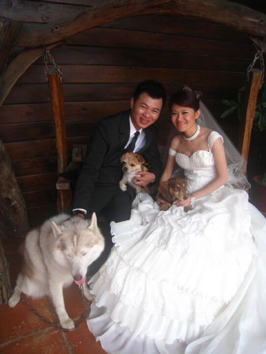 2011.4/17黃小姐2人+1狗入住蛋屋 相片來源:墾丁寵物民宿.哈CHEESE