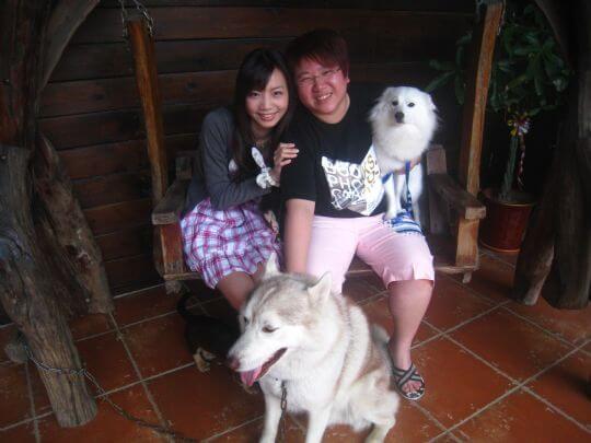2011.4/20~21吳小姐2人+1狗入住蛋屋 相片來源:墾丁寵物民宿.哈CHEESE
