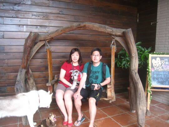 2011.4/22~23王小姐2人+1狗入住蛋屋和通鋪 相片來源:墾丁寵物民宿.哈CHEESE
